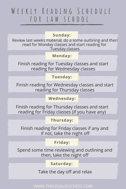 How To Create A Manageable Reading Schedule For Law School The Legal Duchess Law School Law School Inspiration Law School Life