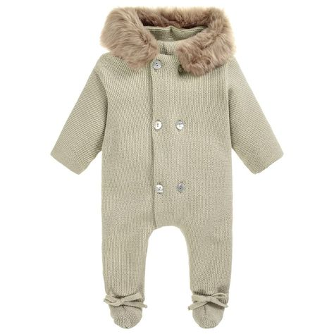 19f7803a8 Unisex Green Knitted Pramsuit