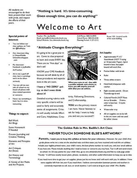 Create Art With Me Artist Statement Form For Middle School  Art