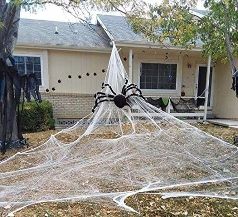 19 99 Halloween Giant Spider Web Outdoor Yard Scary Halloween Deco Halloween Outdoor Decorations Halloween Spider Decorations Scary Halloween Decorations