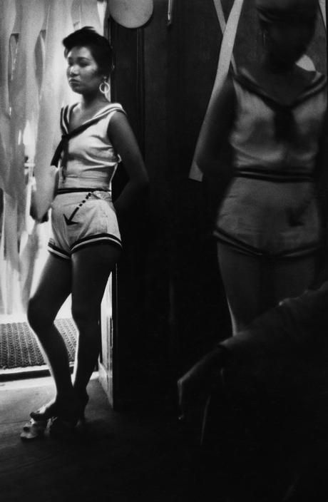 Girl from The Albion cabaret in Ginza, Tokyo, 1958 by Marc Riboud