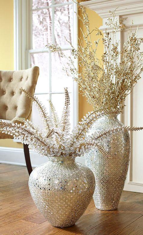 16 Enthralling Decorate Glass Vases Ideas Vases Decor Mosaic Vase Living Room Decor