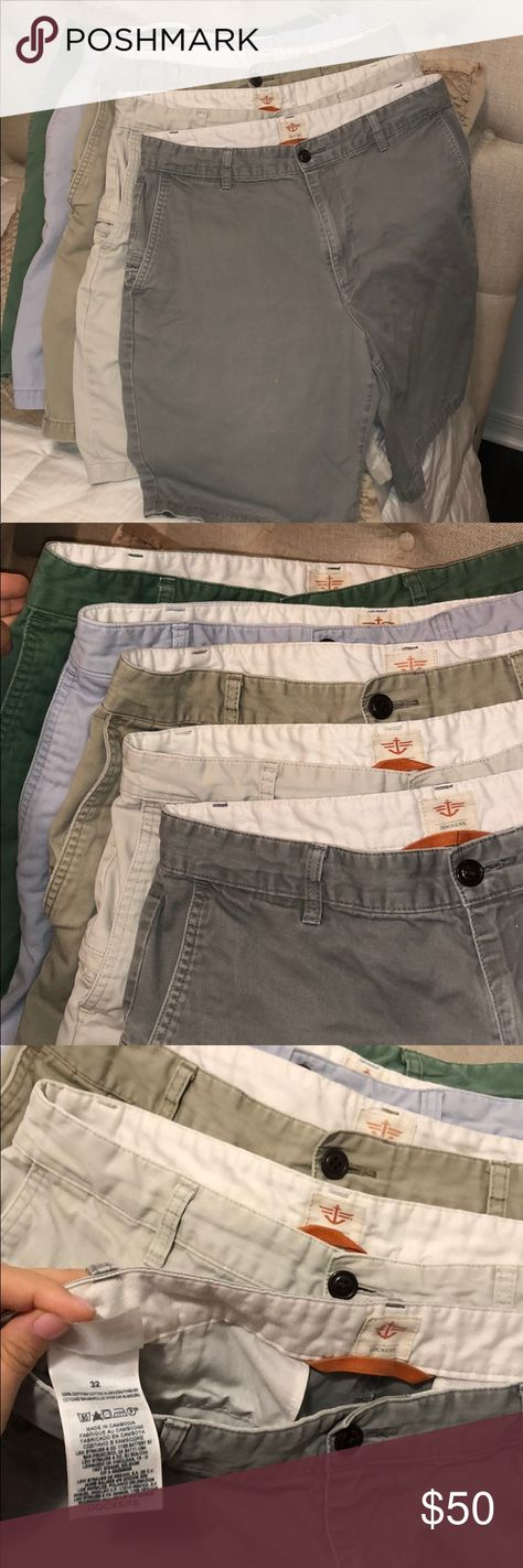 5 for $50 Men's 32 DOCKERS Great condition men's shorts! 1-dark grey, 1-tan, 1-brown, 1-light blue, 1-green Dockers Shorts Cargo