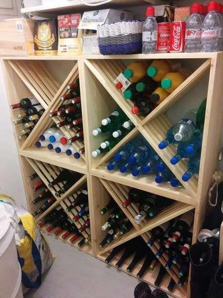 Casiers A Bouteille Casier Vin Rangement Du Vin Amenagement Cave Casier Bo In 2020 Ideen Weinregal Regal