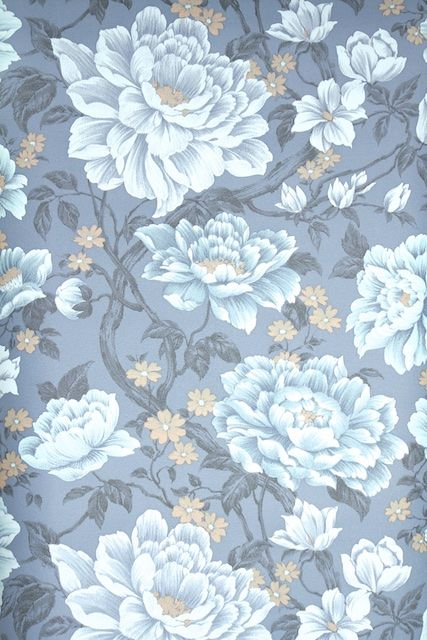 Retro Wallpaper By The Yard 70s Floral Vintage Wallpaper Etsy In 2020 Retro Wallpaper Vintage Wallpaper Vintage Wallpaper Patterns