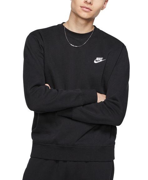 Nike Men/'s Long Sleeve Embroidered Logo Club Crew Neck Sweatshirt