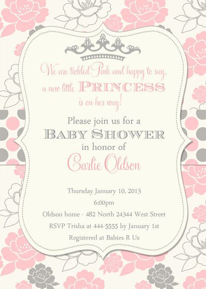 Baby shower invitation princess crown for girl by belleprintables baby shower invitation princess crown for girl by belleprintables 1250 invitations pinterest shower invitations crown and princess filmwisefo