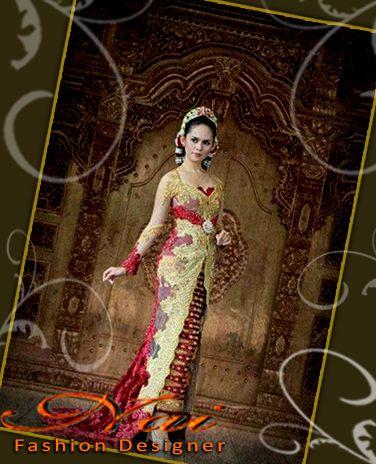 Kebaya Untuk Pernikahan Warna Kuning Emas Merah Maroon