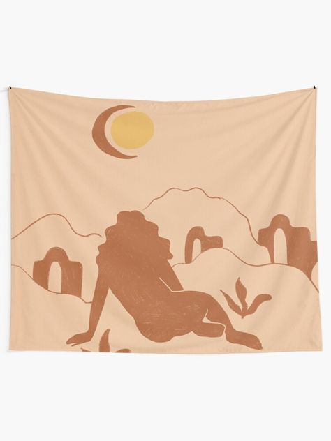 """""""Looking At The Mountains"""" Tapestry by chotnelle 