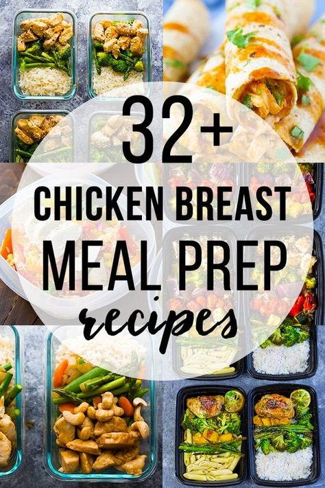 32 + Chicken Breast Meal Prep Recipes Sweet Peas and Saffron healthy chicken breast recipes - Dinner Recipes Clean Eating Chicken, Chicken Meal Prep, Clean Eating Recipes, Clean Eating Snacks, Healthy Eating, Eating Habits, Clean Eating Prep, Healthy Food, Meal Prep For Beginners