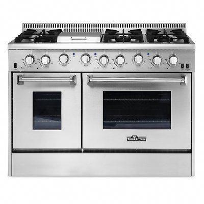 Ilve 40 Free Standing Gas Range With Griddle Wayfair Cocinasestrechas Cocina De Concreto Cocinas Integradas Cocinas Pequeñas