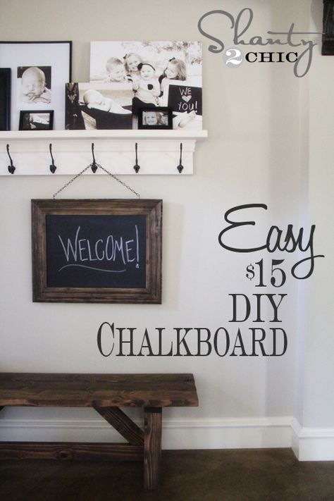 Restoration Hardware Inspired DIY Chalkboard... So darn cute & hopefully as easy as it looks!!