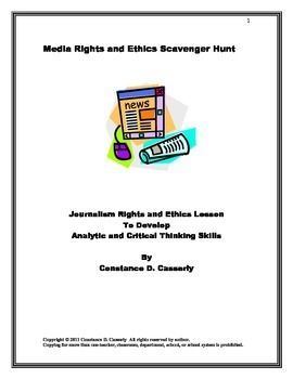 Journalism Rights and Ethics Scavenger Hunt | All Things