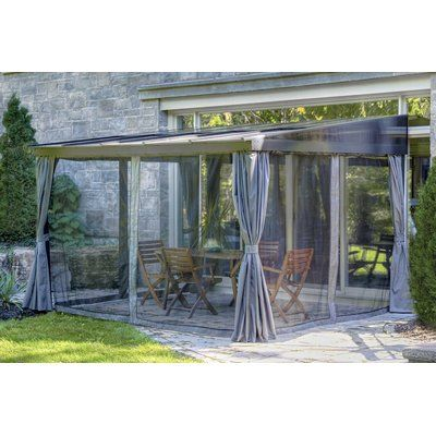 Gazebo Penguin Add A Room 15 Ft W X 7 5 Ft D Aluminum Patio Gazebo Wayfair Patio Gazebo Gazebo Gazebo Pergola
