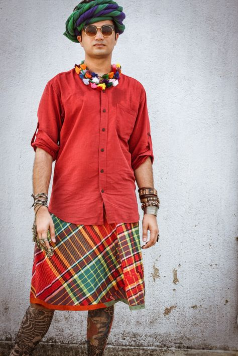 #androgynous #fashion #men #skirts #turbans #traditional #textiles #handwoven #handmade