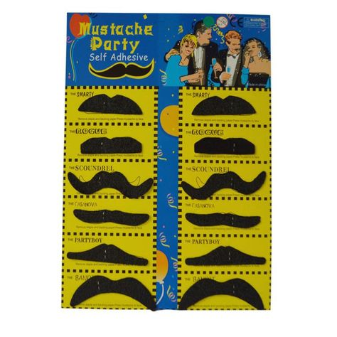 New Self Adhesive Mustaches and beard Fake Mustache Set Fancy Dress Party