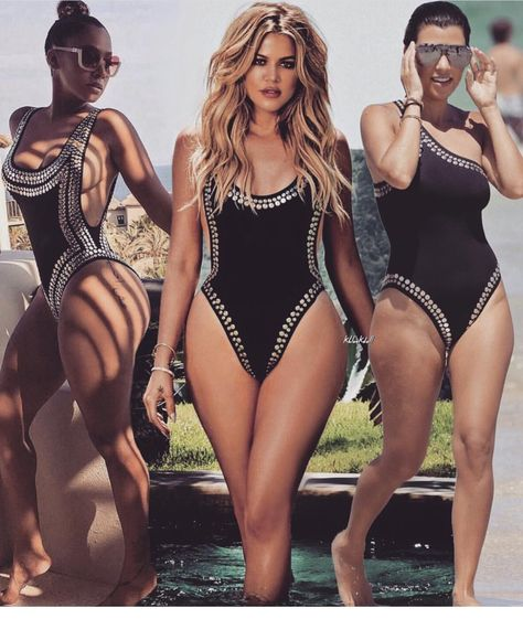 Amazing Kloe Kardashian or Nicki Minaj Inspired Bandage Bodysuit or Sw – Paris Fashion Hollywood