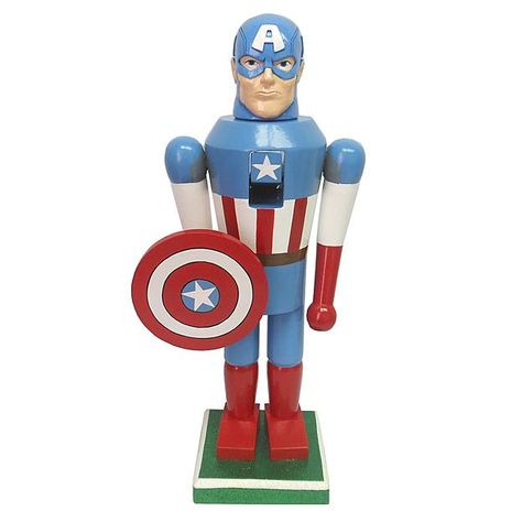 Marvel Captain America Christmas Nutcracker