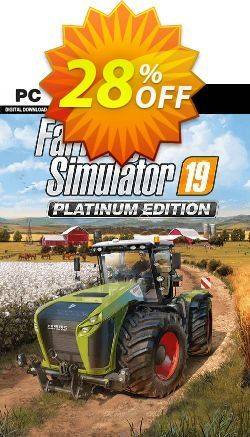 28 Off Farming Simulator 19 Platinum Edition Pc Deal On Int L
