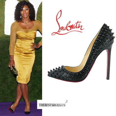 Serena Williams in Christian Louboutin Pigalle Spikes