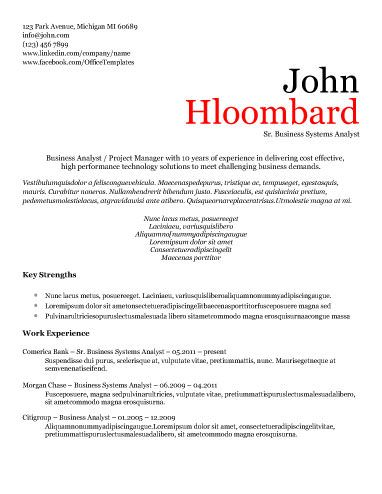 VIP - Free Resume Template by Hloom Good to know Pinterest
