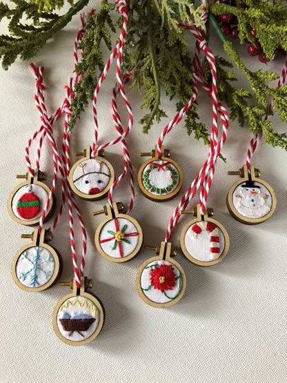 24+ Embroidery hoop christmas ornaments ideas in 2021