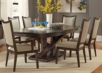 Pedestal Dining Table With Solids Rubberwood And Charcoal Finish In 2020 Dining Room Sets Used Dining Table Cherry Dining Room Sets