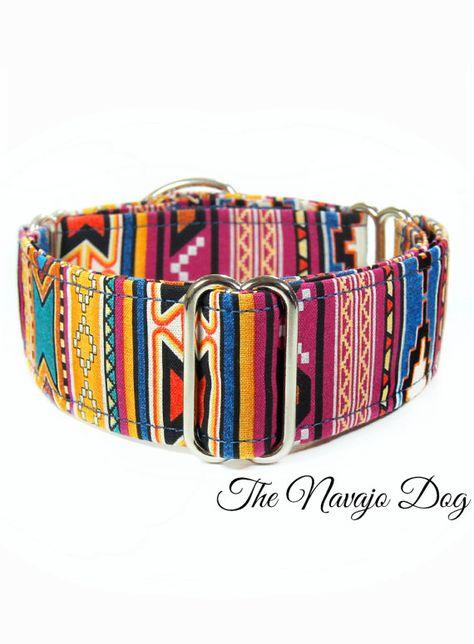 Neon Dog Collar Animal Print Dog Collar Handcrafted Dog Collar Zebra Animal Print on Hot Pink