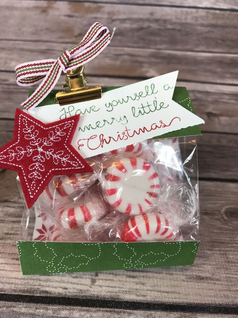 Christmas Gift Bag - Mini 3x6 Gusset Christmas Goodie Bag Class Kit by ScrapHappyPagesStore on Etsy