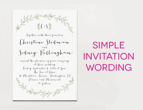 Wedding Invitation Wording, Wedding Respond Card Samples, Reception - best of invitation text for marriage