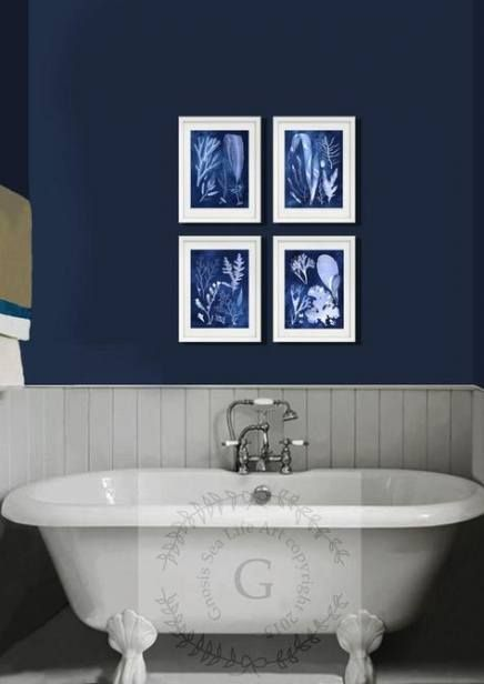 Bathroom Themes Blue Wall Art 25 Trendy Ideas Navy Blue Wall Art Beach House Wall Decor Navy Blue Bathrooms