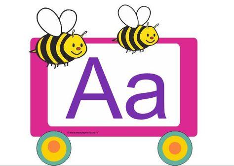 Trenuletul Literelor Vagon A Alphabet Worksheets