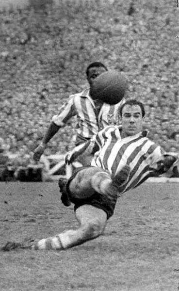 1949 50 La Liga Of Spain Top Goalscorer Telmo Zarra Of Athletic Bilbao 24 Goals