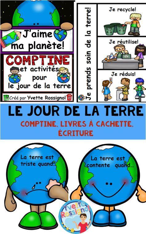 Comptine Et Activites Pour Le Jour De La Terre French Earth Day Activities Teaching Kindergarten Resources Teaching French