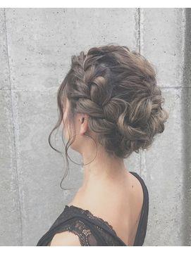結婚式お呼ばれ髪型 ロング フルアップヘアアレンジまとめ 結婚式