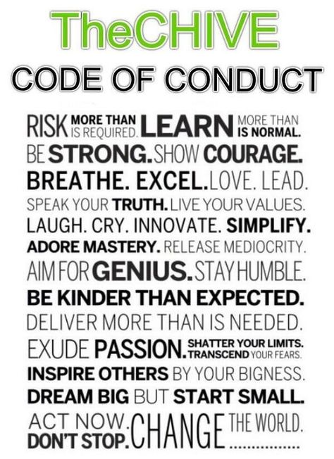 Más de 25 ideas increíbles sobre Code of conduct en Pinterest - code of conduct example