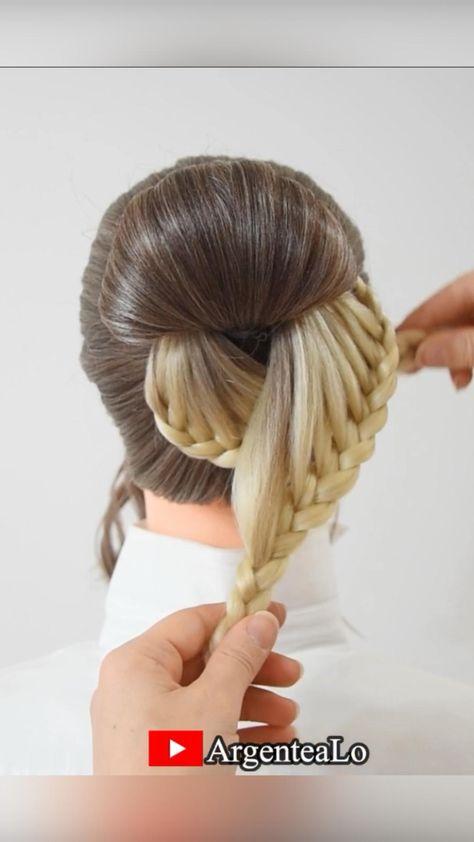 Beautiful Bun Hairstyle 😍