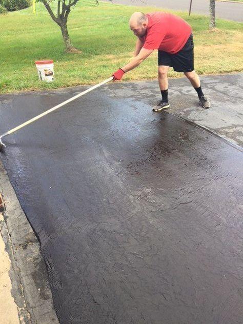 How To Seal Coat A Driveway Driveway Repair Diy Driveway Driveway Ideas Cheap
