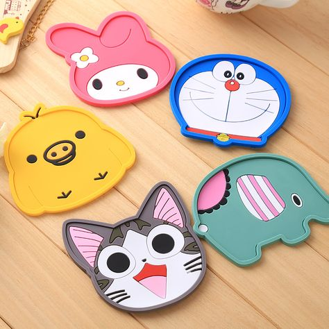 Creative Cartoon Coaster Silicone Dining Table Placemat Pvc Drink