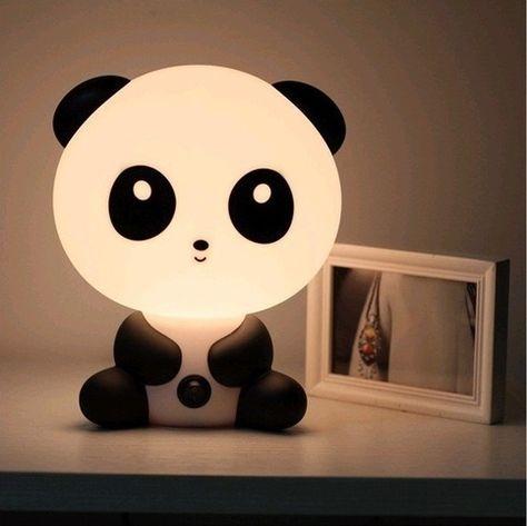 I found 'Asian Kawaii Panda Night Light Desk Lamp Cute Cartoon Baby Small Black White Stationary Super Adorable Animal' on Wish, check it out!