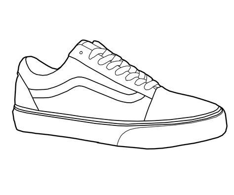 Vans Old Skool Sneaker here, made into a vector on PS Vans Old Skool Shoe Vector