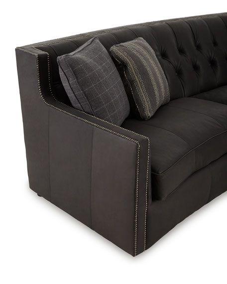 Bernhardt Madeline Tufted Leather Sofa 96 Tufted Leather Sofa Tufted Leather