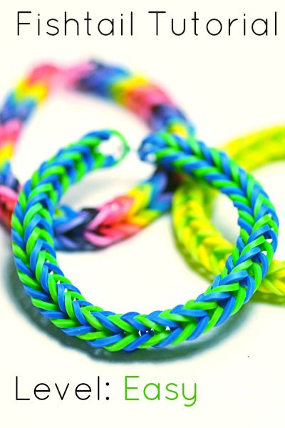 Learn how to make a Rainbow Loom Fishtail Bracelet with this tutorial