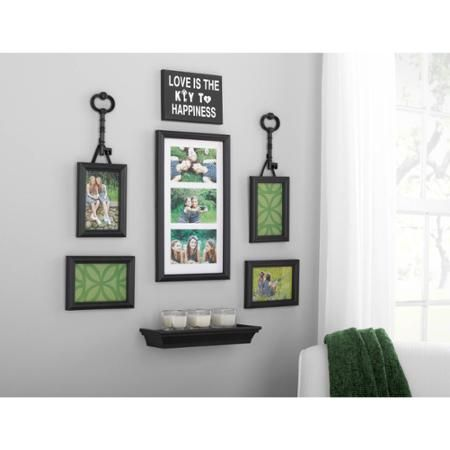 also mainstays piece key expression wall frame set for the home rh pinterest
