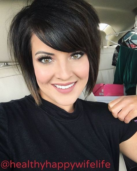 Short Aline Haircut with Bangs