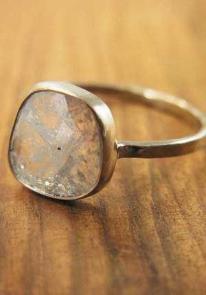 raw diamond ring by Melissa Joy Manning.