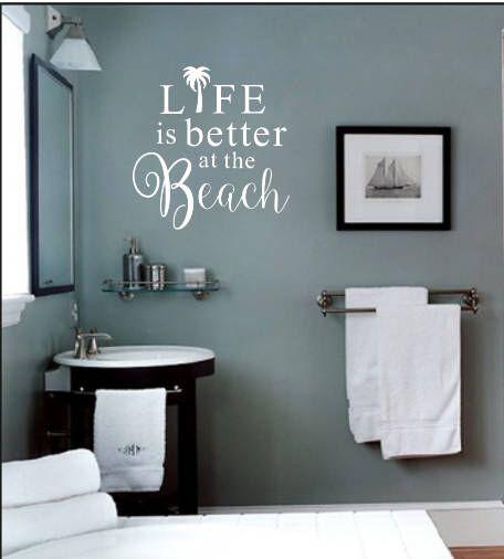 Beach Wall Decor Bathroom Wall Decor Removable Vinyl Wall