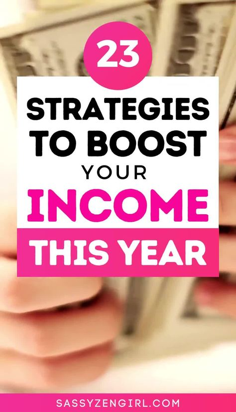 Strategies to BOOST your INCOME