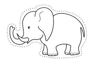 Muitos Desenhos Moldes E Riscos De Elefante Para Pintar Colorir