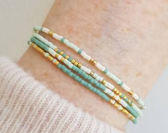 adjustable bracelet beaded bracelet chunky bracelet Crystal bracelet jewelry gift elegant bracelet knotted bracelet wrap bracelet